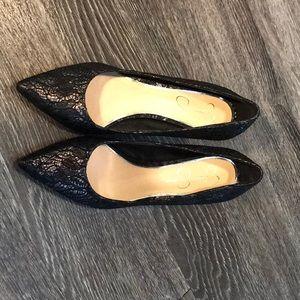 High heels evening shoes